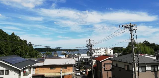 小高い所からの松島